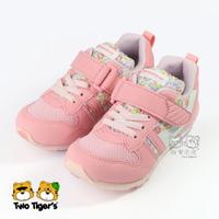 日本月星 MoonStar HI系列 2E 運動鞋 粉紅 碎花 機能童鞋 中童鞋 NO.R4348