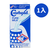 Cowhead 田園 紐西蘭全脂保久乳(1000ml/瓶)(1入)
