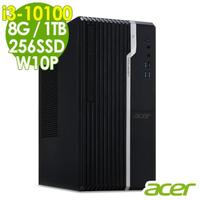 【Acer 宏碁】VS2670G 商用文書電腦 i3-10100/8G/256SSD+1TB/W10P/Veriton S/三年保固(四核心商用電腦)