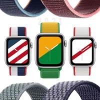 สำหรับ Apple Watch Band 44มม.40มม.42มม.38มม.Smartwatch Watchband เข็มขัดไนล่อนเข็มขัดสร้อยข้อมือ IWatch Series 3 4 5 SE 6