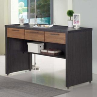 【AT HOME】現代簡約4尺鐵刀雙色三抽收納書桌/電腦桌/工作桌(120x60x80cm/雷恩)