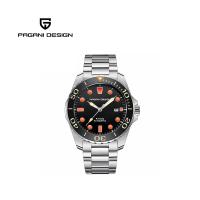 【PAGANI DESIGN】經典機械水鬼不鏽鋼自動機械錶 PD-1632-橘釘