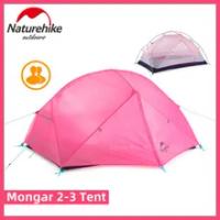 Naturehike Mongar เต็นท์2-3คน Camping ไนลอนผ้า Double Layer Ultralight กลางแจ้งกันน้ำสีชมพู Backpacking เต็นท์ Mat