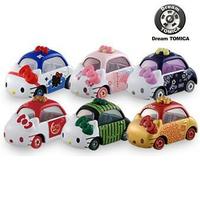 【Fun心玩】TM84241 麗嬰 正版 Dream TOMICA KITTY車 抽抽樂(一盒6入) 夢幻 多美小汽車