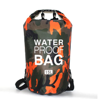 【PUSH!】戶外用品迷彩單肩手提防水包袋15L溯溪包漂流袋防水桶包(P131)