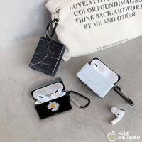 行李箱造型>蘋果 airpods 一代/二代/三代/pro 質感 gd 小雛菊 理石 掛勾 耳機保護套 保護套 耳機套