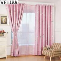 Kids Curtains Pink Princess Girls Cartoon Curtain Children Living Room Bedroom Window Jalousie Cortinas 139&C