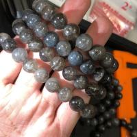 「五行倉庫」黑髮晶手珠 漂亮滿絲黑髮晶 有帶一點黑銀鈦
