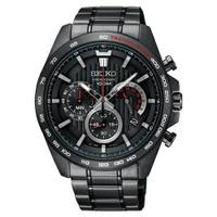 刷卡滿3千回饋5%點數|SEIKO 精工豪氣奔騰三眼計時運動腕錶/8T63-00G0SD/SSB311P1