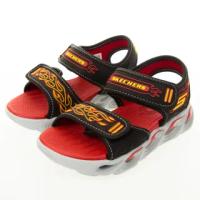 【SKECHERS】男童系列涼拖鞋 THERMO-SPLASH燈鞋(400109LBKRD)