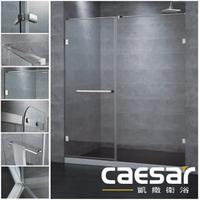 【caesar凱撒衛浴】無框一字型淋浴拉門 不銹鋼五金配件 含安裝 限定北北基桃