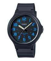 【東洋商行】CASIO 卡西歐 超輕薄感實用必備大表面指針錶-黑X藍 MW-240-1BVDF 原廠公司貨 附保證卡 保固期一年 手錶 運動錶 電子錶