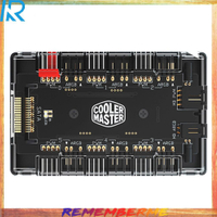 Rem-Cooler Master 1 至 6 風扇集線器分配器 4Pin PWM 3Pin 可地址 RGB 適配器