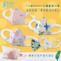 【YSH益勝軒】台灣製 幼幼1-4歲醫療3D立體口罩50入/盒(五款卡通圖案可選)