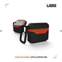 【UAG】AirPods Pro 耐衝擊硬式保護殼V2-黑橘(UAG)