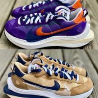 Sacai x Nike Vaporwaffle 藍紫 卡其 DD1875-200 DD1875-500
