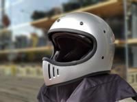 任我行騎士部品 Gallop M2 山車帽 內藏墨鏡 全罩 安全帽 #銀色