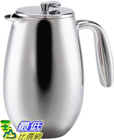 [美國直購 ShopUSA] Bodum Columbia 咖啡壺 34  Ounce   Stainless-Steel 1308-16 Columbia 8-Cup  Coffee Press Pot _TB1
