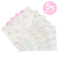 小禮堂 雙子星 造型透明夾鏈袋組 化妝品袋 口罩袋 飾品袋 分裝袋 (5入 紫 蝴蝶結)