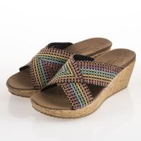 【SKECHERS】女 休閒系列 涼鞋 BEVERLEE(38554MLT)