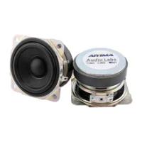 Aiyima 2.5Inch Portable Speaker Lengkap Driver 8ohm 10W Loudspeaker Karet Tepi Kolom Amplifier Speaker untuk Home Audio DIY