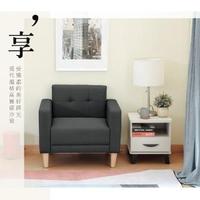 【RICHOME】曼尼日式厚座墊單人布沙發(3色)