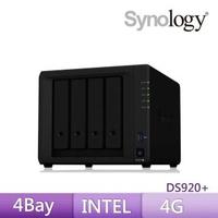 【搭希捷 10TB Pro x2】Synology 群暉科技 DS920+ 網路儲存伺服器