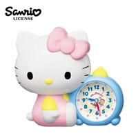 【日本正版】凱蒂貓 造型鬧鐘 滑動式秒針 靜音鬧鐘 說話鬧鐘 指針時鐘 鬧鐘 Hello Kitty SEIKO - 042126