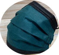 【MIT】翔緯醫用口罩 -歐妮/撞色綠黑款☆雙鋼印☆--成人醫療口罩50入盒裝(7-11/全家取貨滿499元免運)
