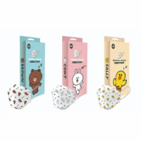 【LINE FRIENDS】成人4D立體醫療口罩 10入/盒(#熊大 #兔兔 #莎莉)