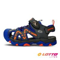 LOTTO樂得-義大利第一品牌 童款護趾戶外健走運動涼鞋 [LT1AKS3386] 藍【巷子屋】