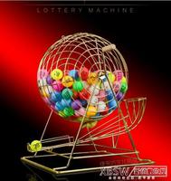 大號金屬搖獎機搖號機高檔抽獎機幸運大轉盤雙色球選號機CY