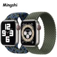 ไนลอน Braided Solo Loop สายคล้องคอสำหรับ Apple นาฬิกา44มม.40มม.38มม.42มม.สร้อยข้อมือสำหรับ IWatch Series 6 SE 5 4 3