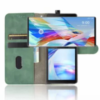 2021 Flip Leather Case For LG Wing 5G 2020 Case Wallet Book Cover For LG Wing LGWing 5G Cover Magnetic Phone Bag LG Wing