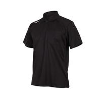 【MIZUNO 美津濃】男短袖POLO衫-短袖上衣 高爾夫 網球 美津濃 黑白(32TA002009)