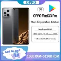 ใหม่ Original OPPO ค้นหา X3 Pro Mars Exploration Edition สมาร์ทโฟน Snapdragon 888 16GBram 512GBrom 5G 65W super VOOC2 Google Play