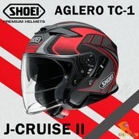 預購商品 任我行騎士部品 SHOEI J-Cruise II 半罩 3/4 內墨片 除霧片 J cruise2 AGLERO 消光紅黑 可PFS