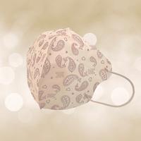 成人3D醫用口罩(可可咖變形蟲)細耳帶-30入 / 單片包裝