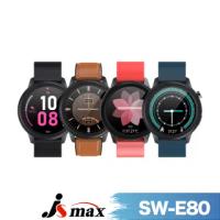 【JSmax】JSmax SW-E80 AI智慧健康管理時尚手錶(24H動態監測)