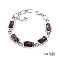 【La Jolla】蕭邦五號戀曲 純鈦鍺手鍊(茶水晶)