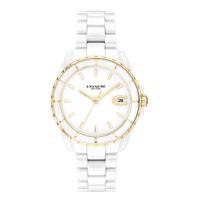 【COACH】優雅白金陶瓷時尚腕錶33mm(14503807)