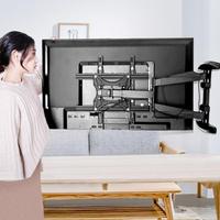 電視架 通用電視掛架伸縮旋轉90度折疊電視支架萬能壁掛小米海信創維TCL