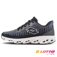 【LOTTO】女 SONIC 風動跑鞋(黑-LT1AWR3090)