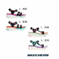 【SKECHERS】女 健走系列厚底避震緩衝涼鞋 MAX CUSHIONING SANDAL(多款)