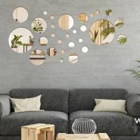Silver Acrylic Wall Sticker Mirror Flower Wall Art Sofa Mural Acrylic Home Decoration Bedroom Wallpaper Mirror Stickers