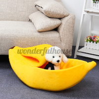 Soft Banana Pet House Mat Durable Kennel Doggy Warm Boat Pup