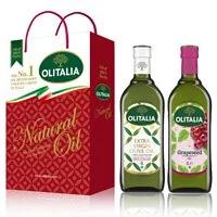【Olitalia奧利塔】特級初榨橄欖油+葡萄籽油禮盒組(1000mlx2瓶)