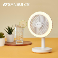 【SANSUI 山水】USB充電式LED驅蚊DC風扇 充電風扇 掛勾(SHF-M72)