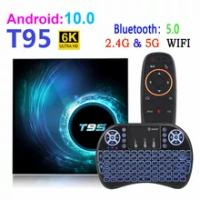 NEW T95 Smart android TV Box Android 10.0 Youtube HD 6K Android TV Box Google Voice Assistant TTVXO Smart TV Box Android 10