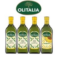 【Olitalia奧利塔】純橄欖油1000mlx3瓶+葵花油1000mlx1瓶(雙入禮盒組)
